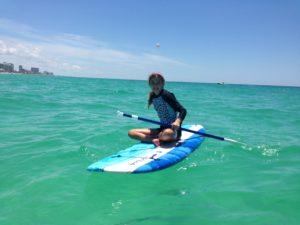 Young One Paddling for first time with Mimi in gorgeous water
