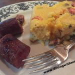 Breakfast Spicy Sausage Polenta www.diningwithmimi.com